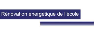 Rénovation énergétique de l'école